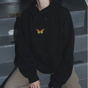 Brandy Melville Butterfly Hoodie Sweatshirt